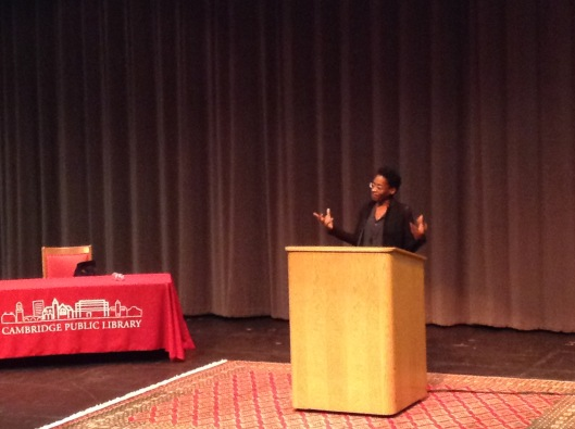 Jacqueline Woodson on stage